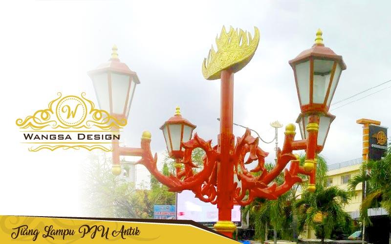 Tiang Lampu Pju Antik Klasik Tiang Lampu Taman Antik Klasik Mewah